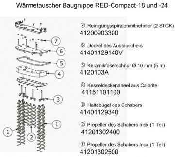 Propeller des schabers inox 1 teil 41201302500 for Mcz red compact 24