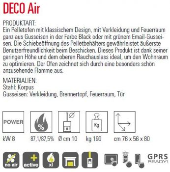 MCZ DECO Air 8,0 kW - Fachberater Pelletheizungen