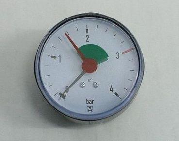 "Afriso Heizungsmanometer 0-2,5/4 bar 3/8"" axial 63 mm"