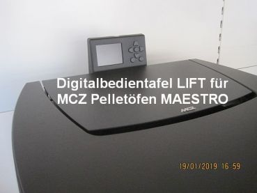 Digitalbedientafel LIFT für MCZ Pelletöfen MAESTRO