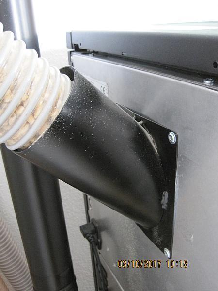 mcz pelletofen anschluss stutzen f r pelletzuf hrung fachberater pelletheizungen. Black Bedroom Furniture Sets. Home Design Ideas