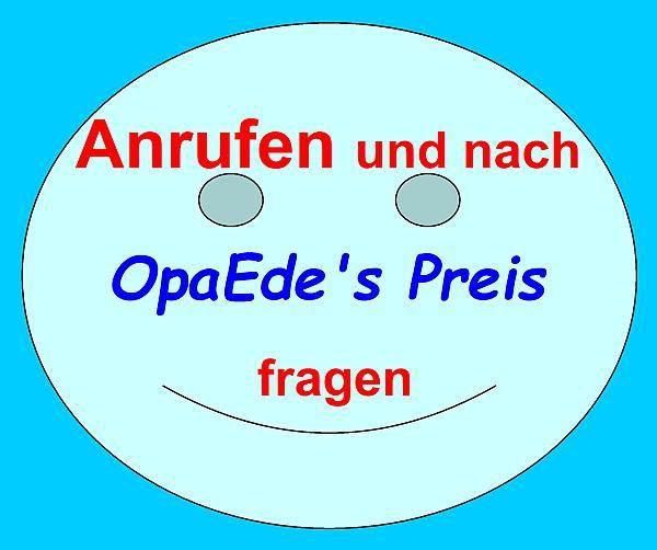 """""""Anrufen und nach OpaEde's Preis fragen"""" - NUR Pelletöfen"""